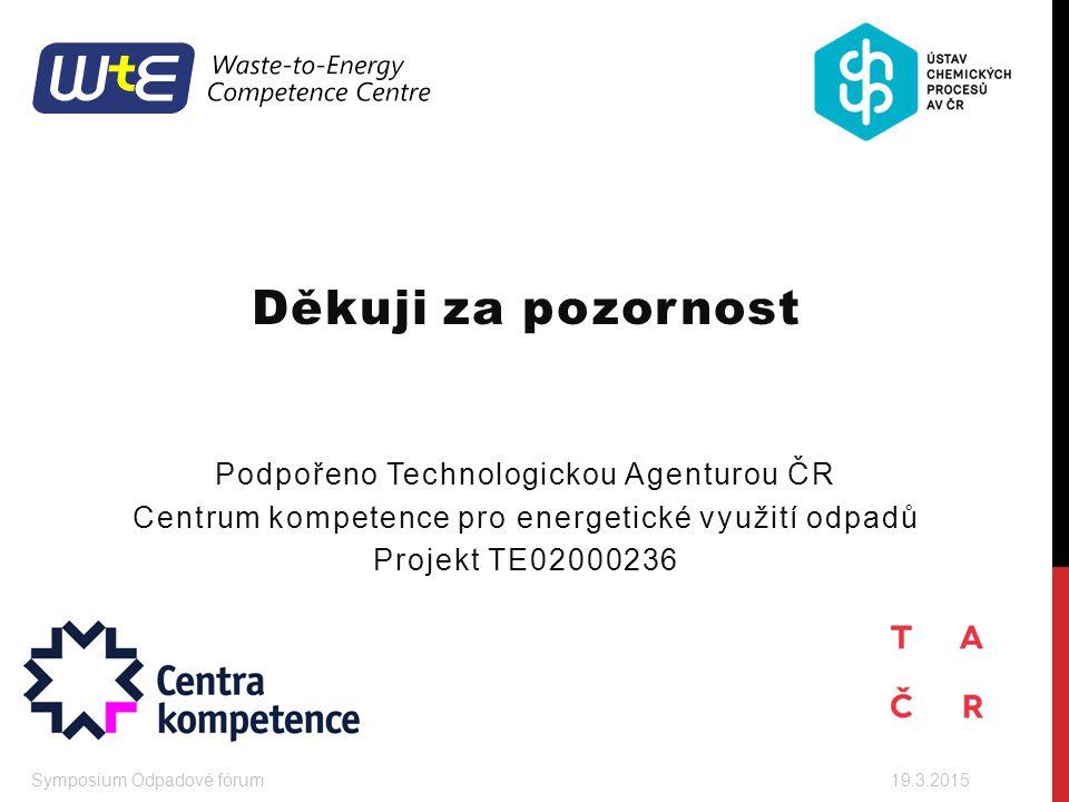Děkuji za pozornost Podpořeno Technologickou Agenturou ČR
