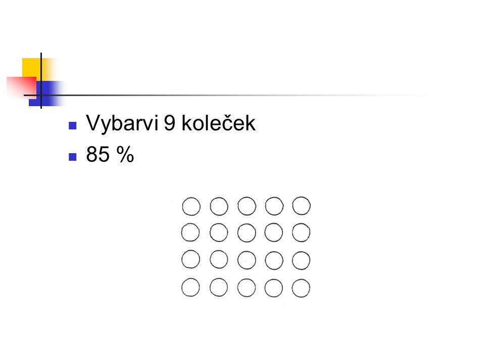 Vybarvi 9 koleček 85 %