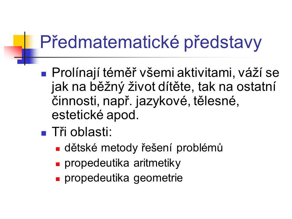 Předmatematické představy