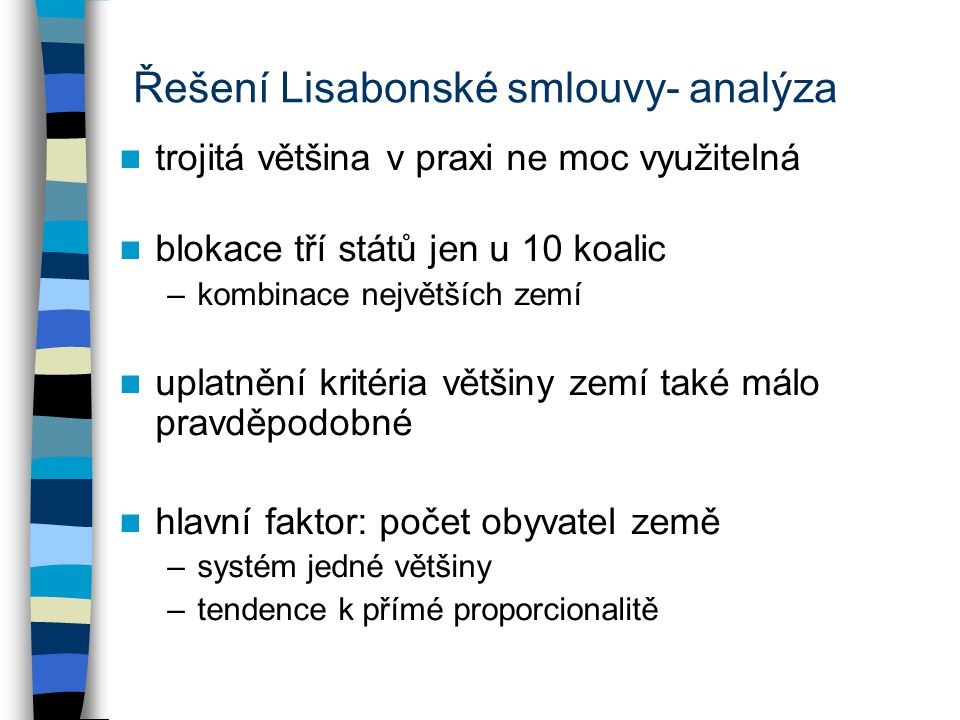 Řešení Lisabonské smlouvy- analýza