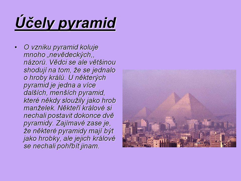 Účely pyramid