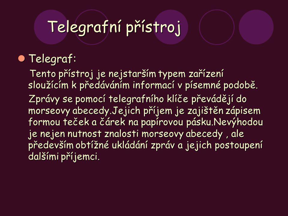 Telegrafní přístroj Telegraf: