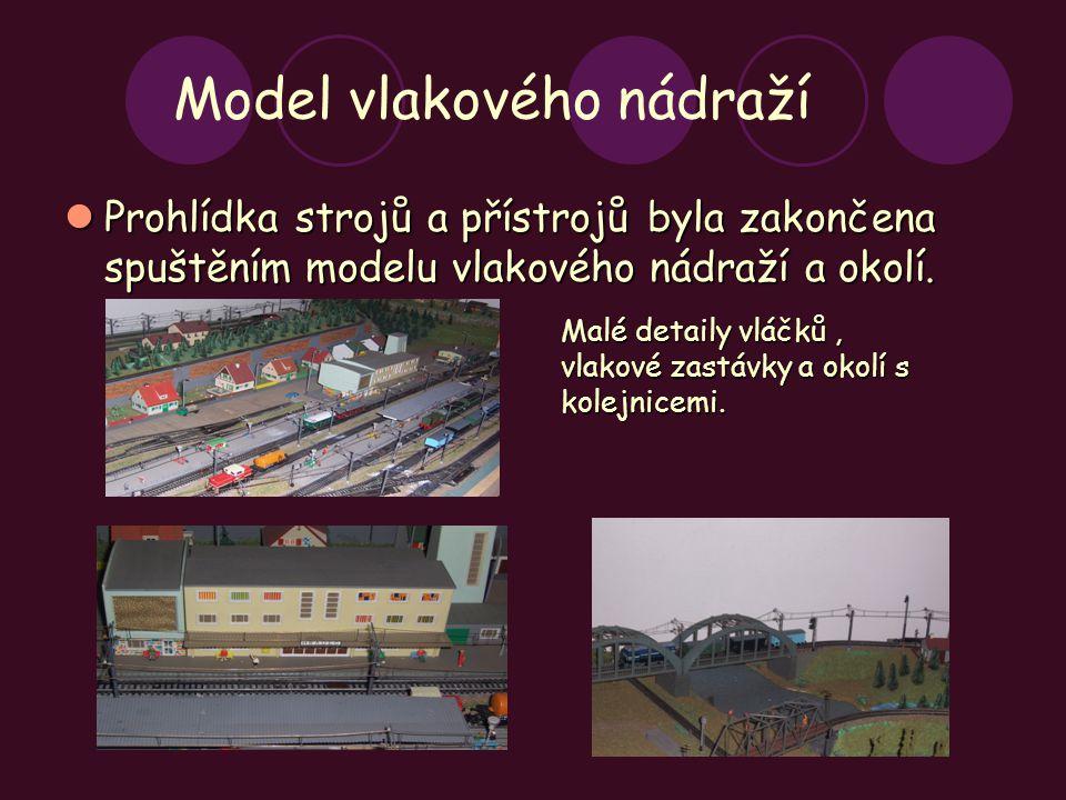 Model vlakového nádraží