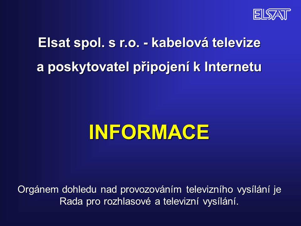 INFORMACE Elsat spol. s r.o. - kabelová televize
