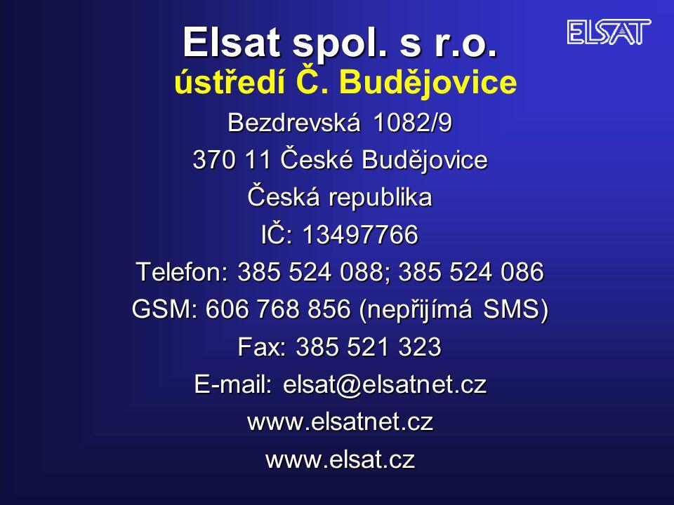 Elsat spol. s r. o. ústředí Č