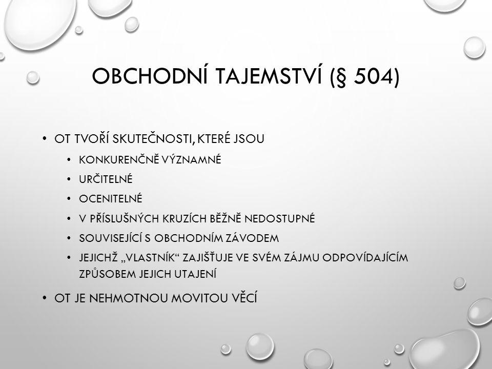 Obchodní tajemství (§ 504)