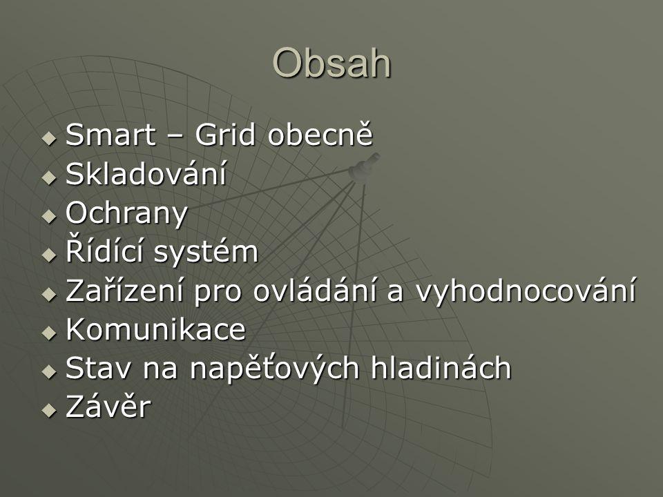 Obsah Smart – Grid obecně Skladování Ochrany Řídící systém