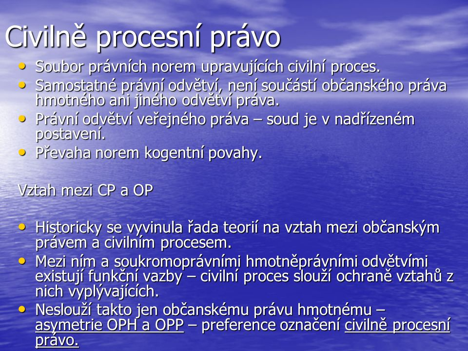 Civilně procesní právo