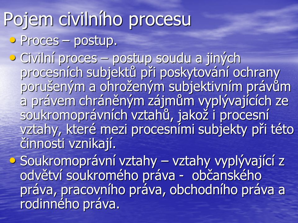 Pojem civilního procesu
