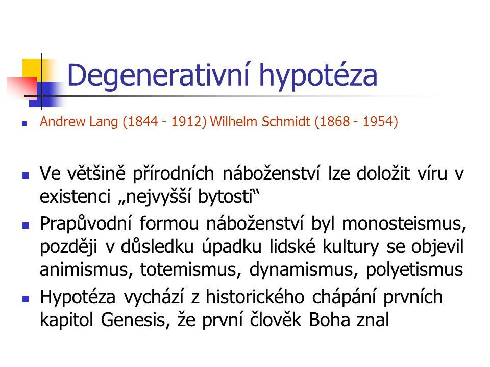 Degenerativní hypotéza