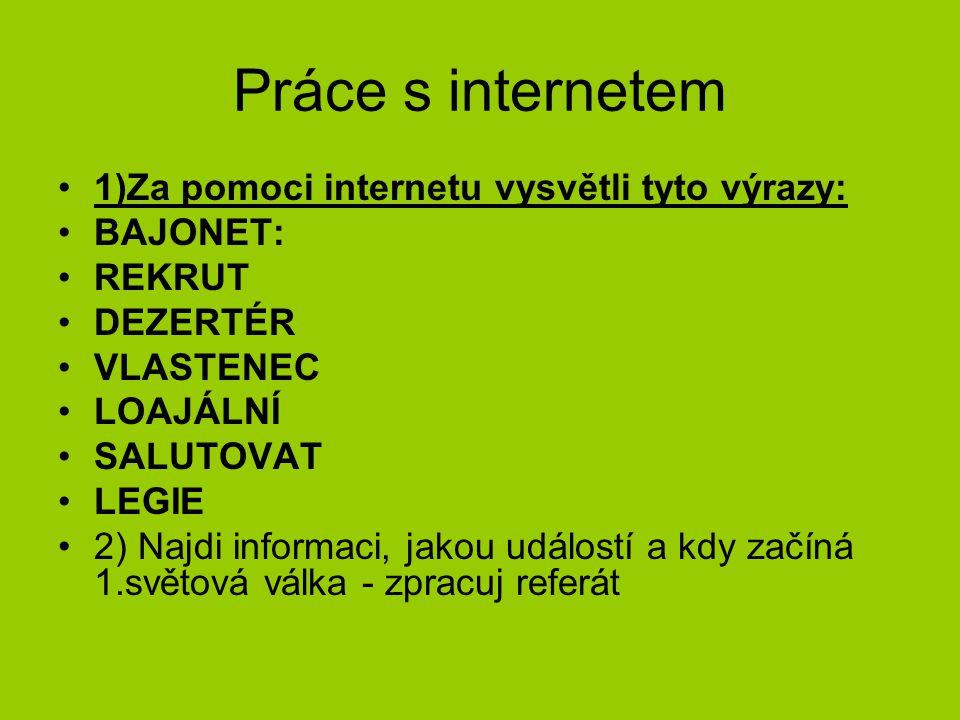 Práce s internetem 1)Za pomoci internetu vysvětli tyto výrazy: