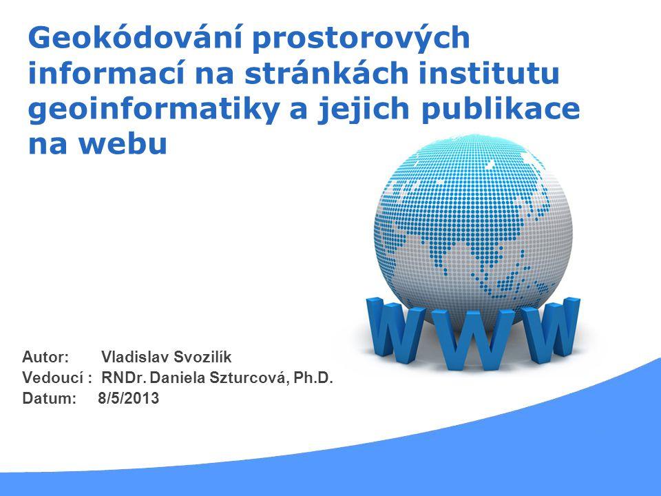 Geokódování prostorových informací na stránkách institutu geoinformatiky a jejich publikace na webu