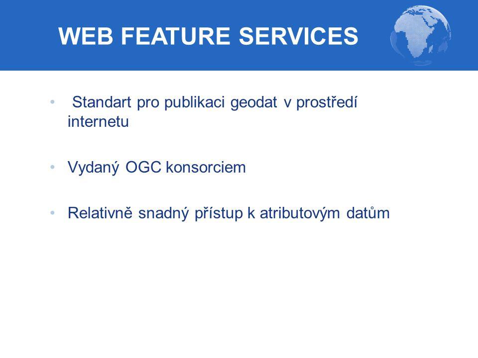 WEB FEATURE SERVICES Standart pro publikaci geodat v prostředí internetu.
