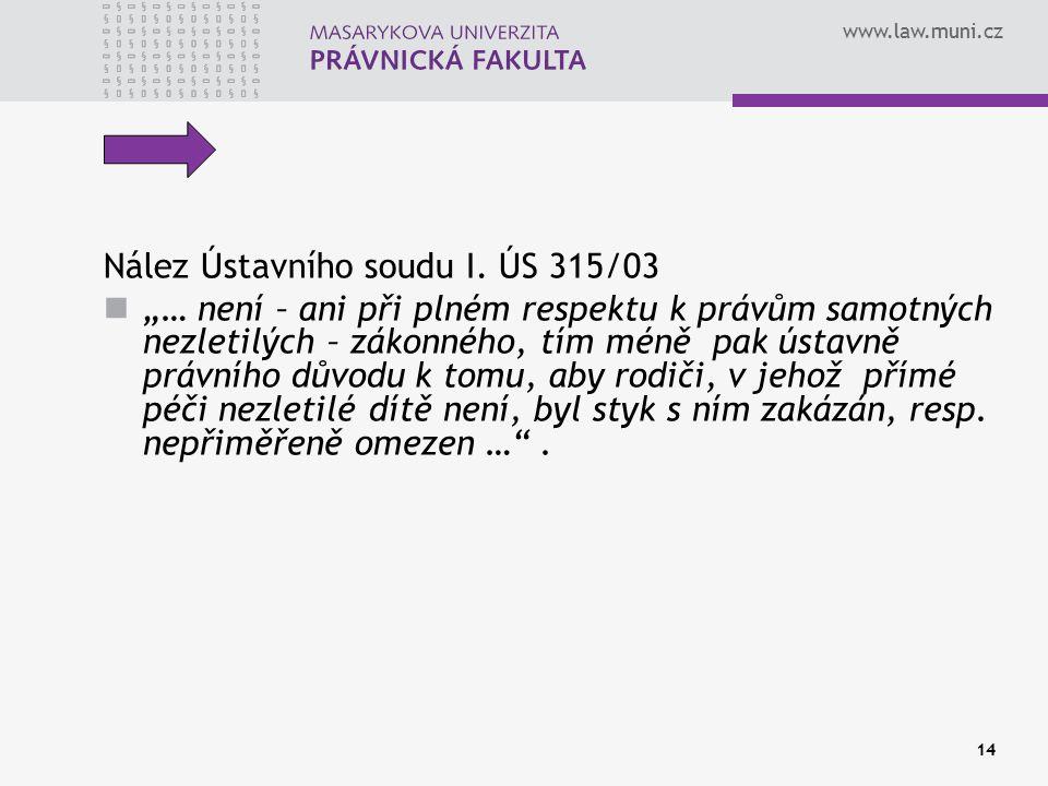 Nález Ústavního soudu I. ÚS 315/03