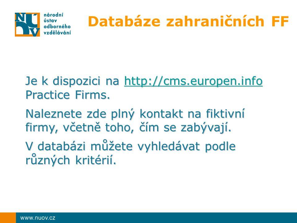 Databáze zahraničních FF
