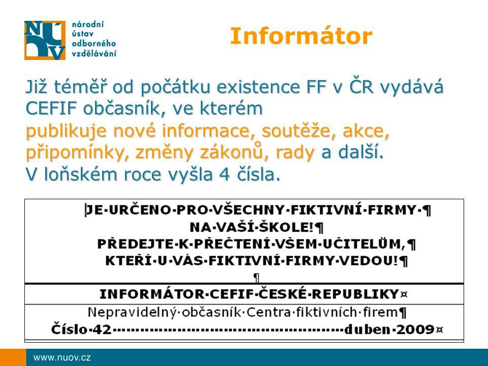 Informátor Již téměř od počátku existence FF v ČR vydává CEFIF občasník, ve kterém.