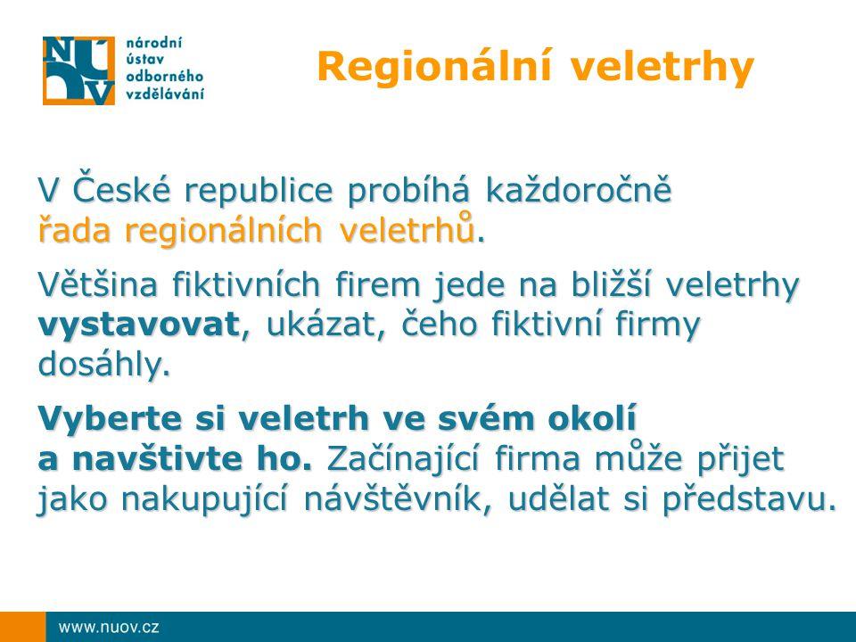 Regionální veletrhy V České republice probíhá každoročně