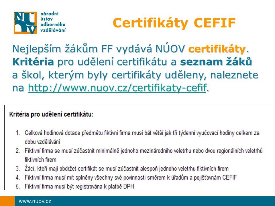 Certifikáty CEFIF