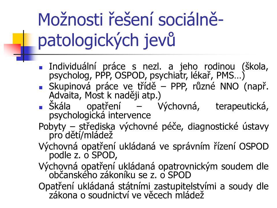 Možnosti řešení sociálně-patologických jevů
