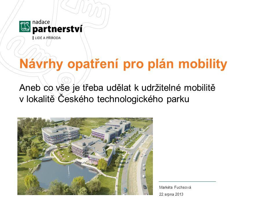 Návrhy opatření pro plán mobility