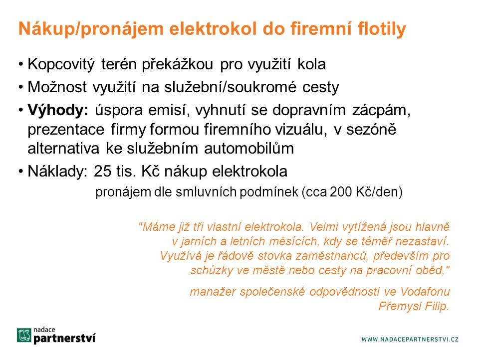 Nákup/pronájem elektrokol do firemní flotily