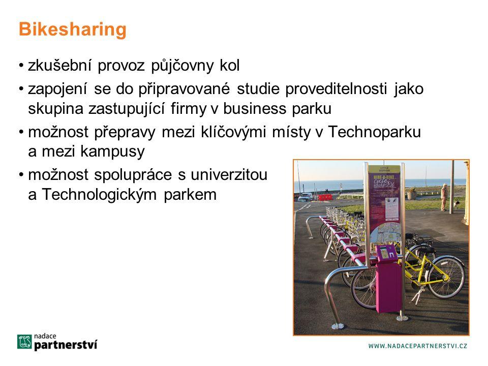Bikesharing zkušební provoz půjčovny kol