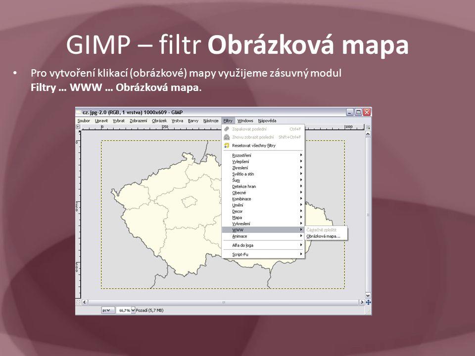 GIMP – filtr Obrázková mapa