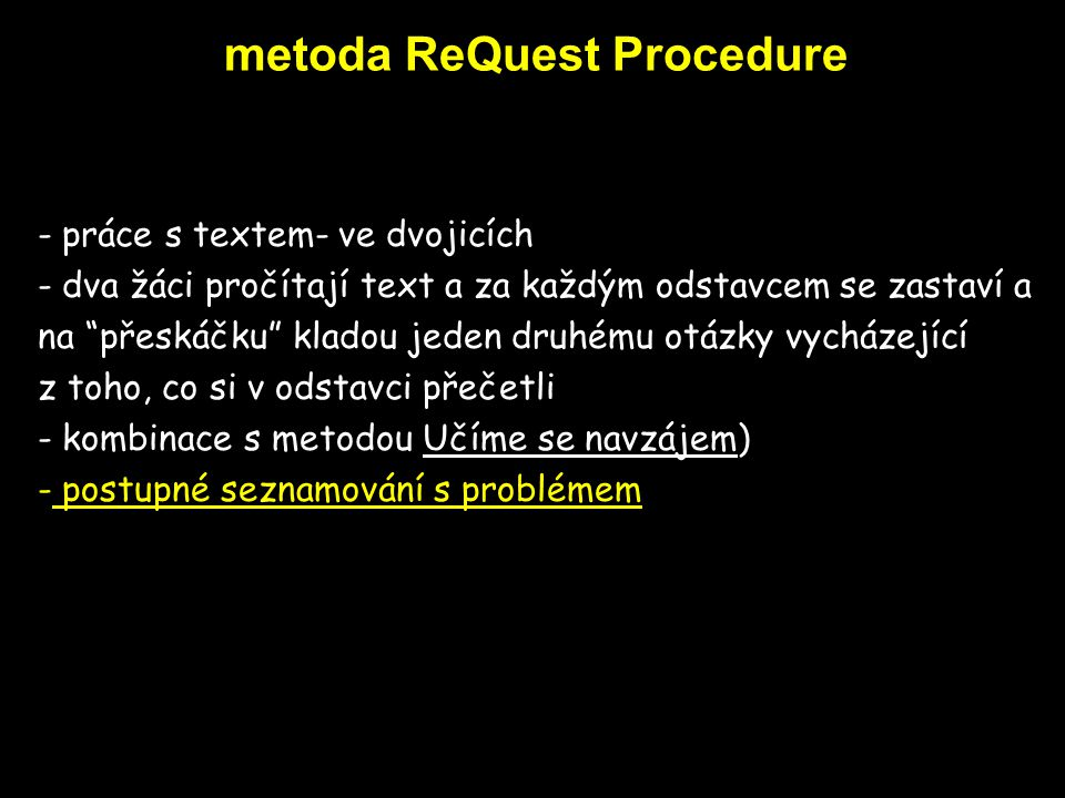 metoda ReQuest Procedure