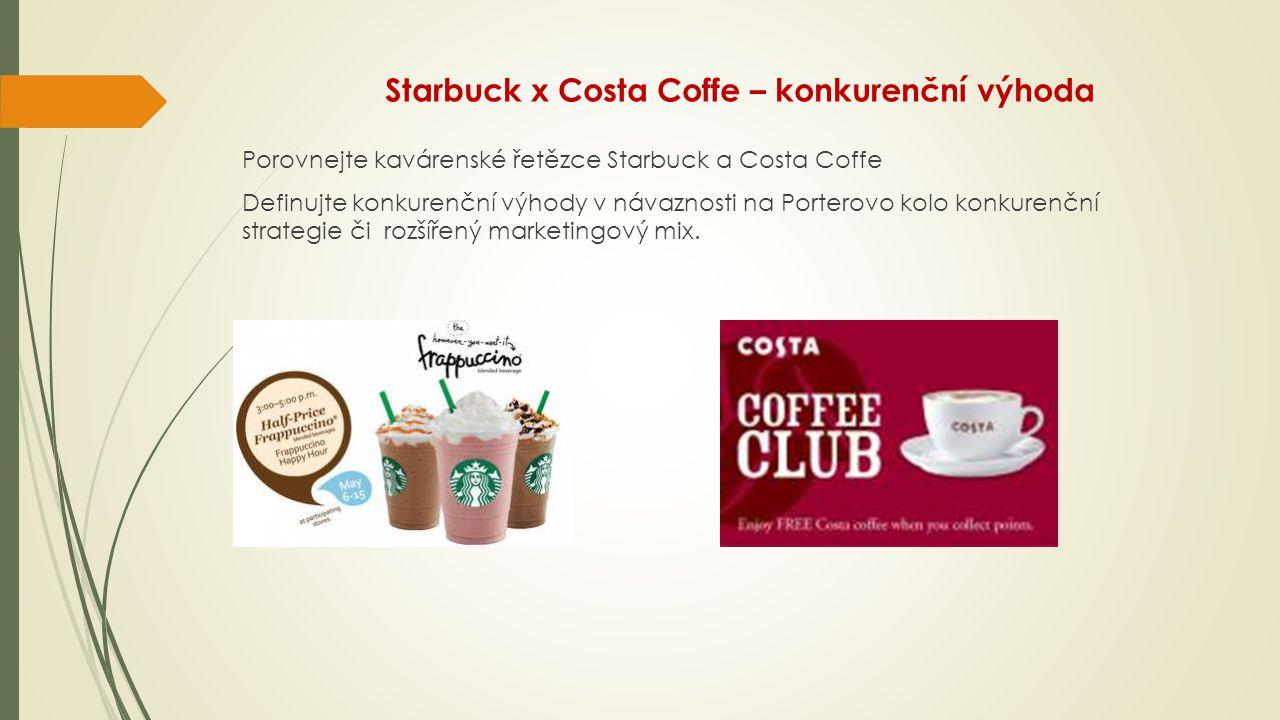 Starbuck x Costa Coffe – konkurenční výhoda
