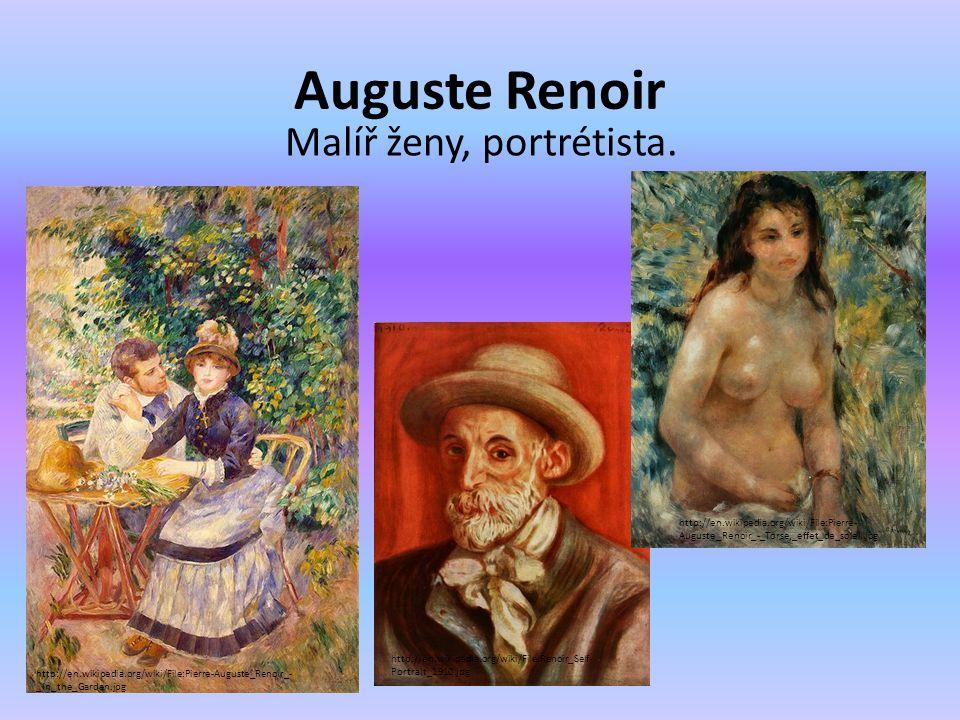 Malíř ženy, portrétista.