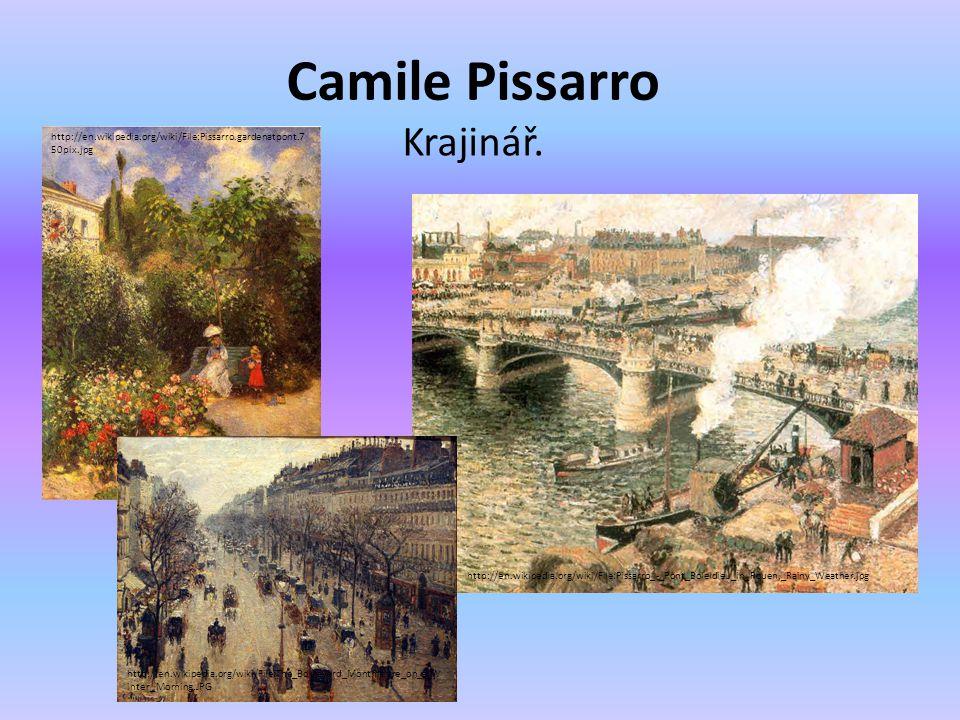 Camile Pissarro Krajinář.