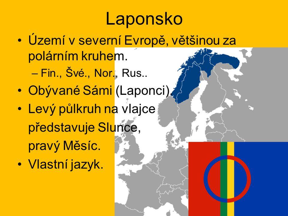 Laponsko Území v severní Evropě, většinou za polárním kruhem.