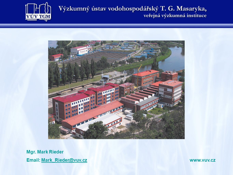 Mgr. Mark Rieder Email: Mark_Rieder@vuv.cz www.vuv.cz