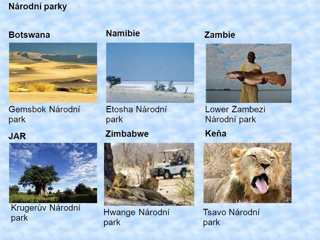 Národní parky Botswana. Namibie. Zambie. Gemsbok Národní. park. Etosha Národní. park. Lower Zambezi.