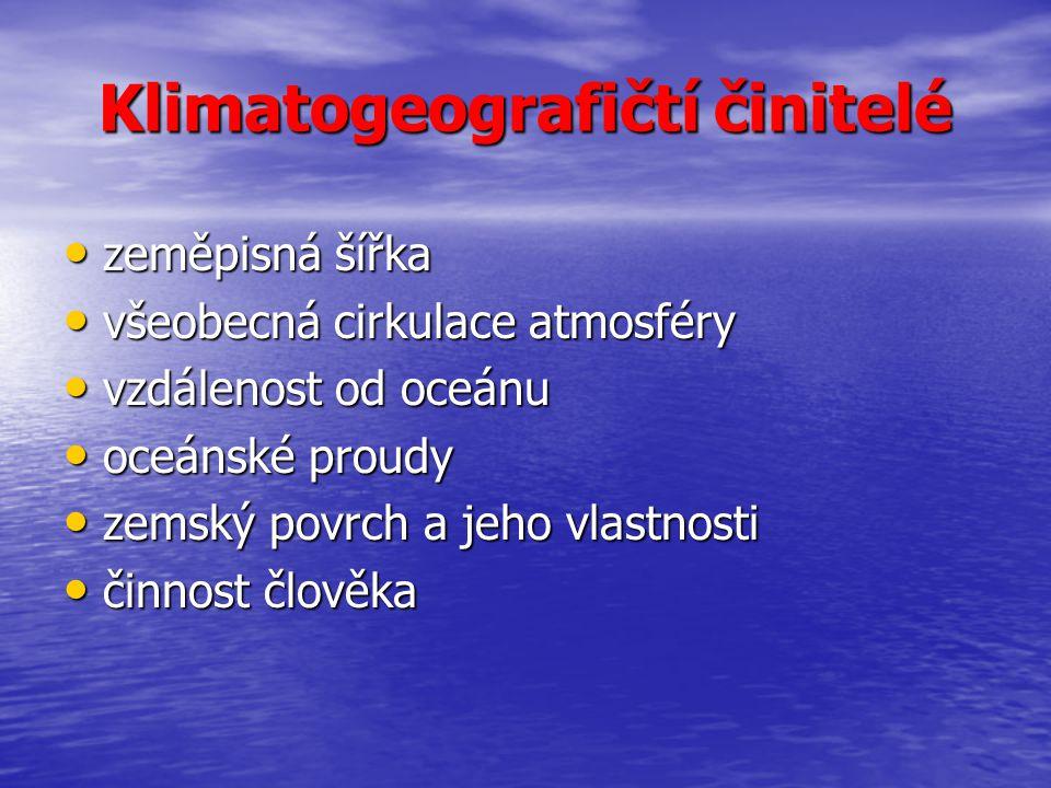 Klimatogeografičtí činitelé