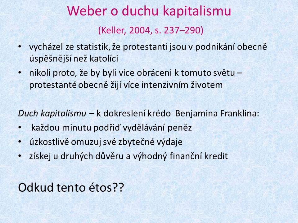 Weber o duchu kapitalismu (Keller, 2004, s. 237–290)
