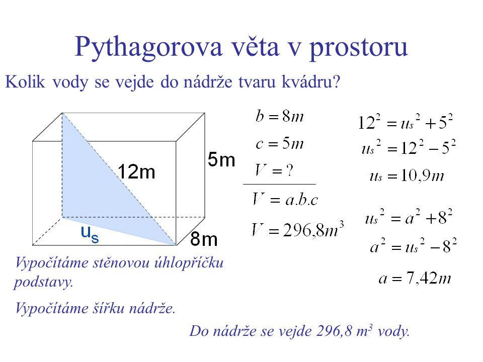 Pythagorova věta v prostoru