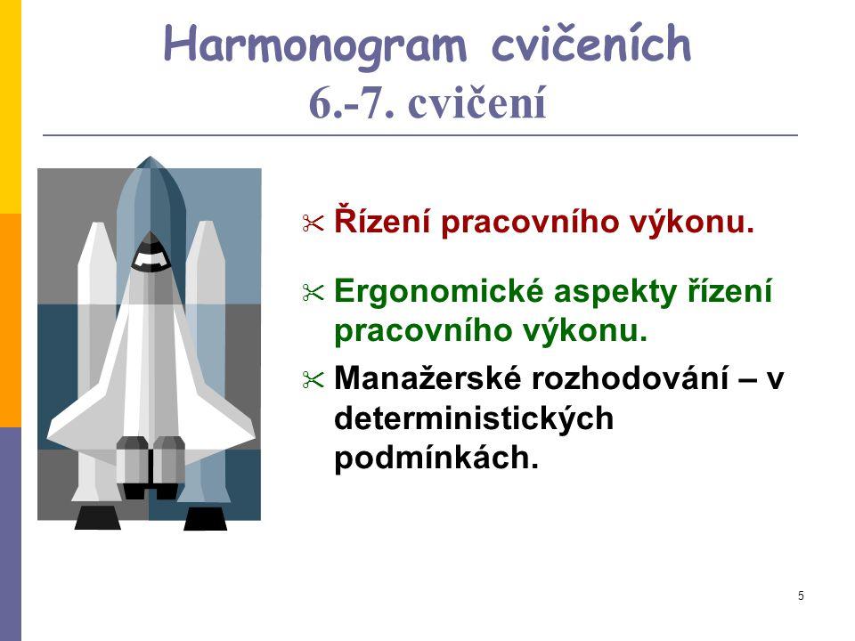 Harmonogram cvičeních 6.-7. cvičení