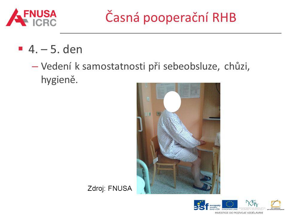 Časná pooperační RHB 4. – 5. den
