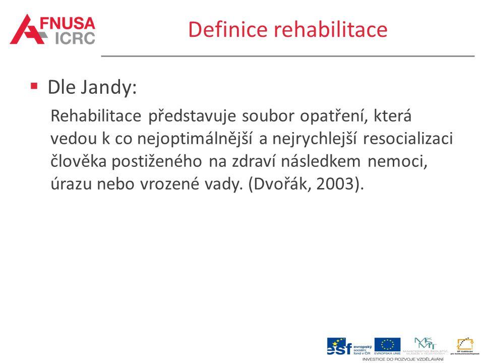 Definice rehabilitace
