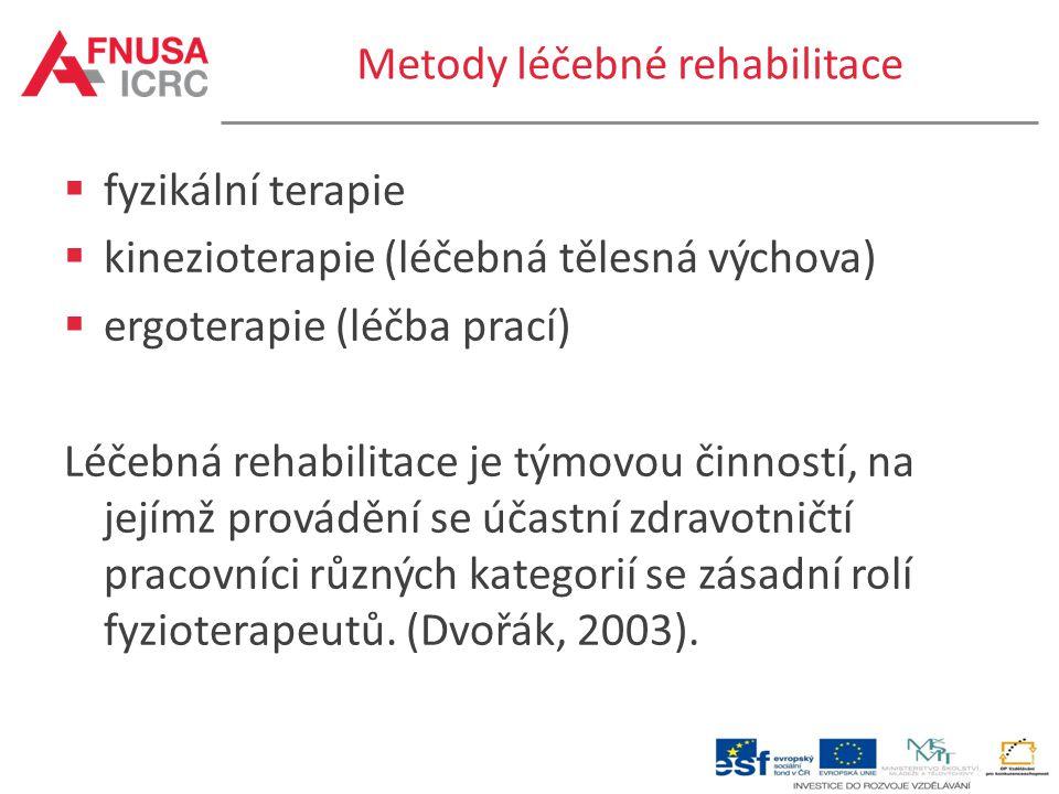 Metody léčebné rehabilitace