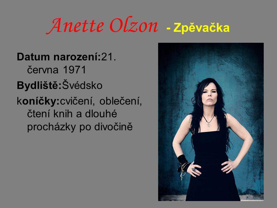 Anette Olzon - Zpěvačka