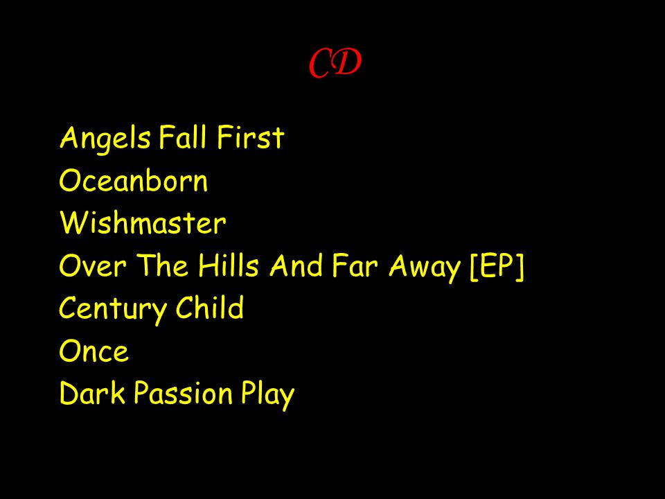 CD Angels Fall First Oceanborn Wishmaster
