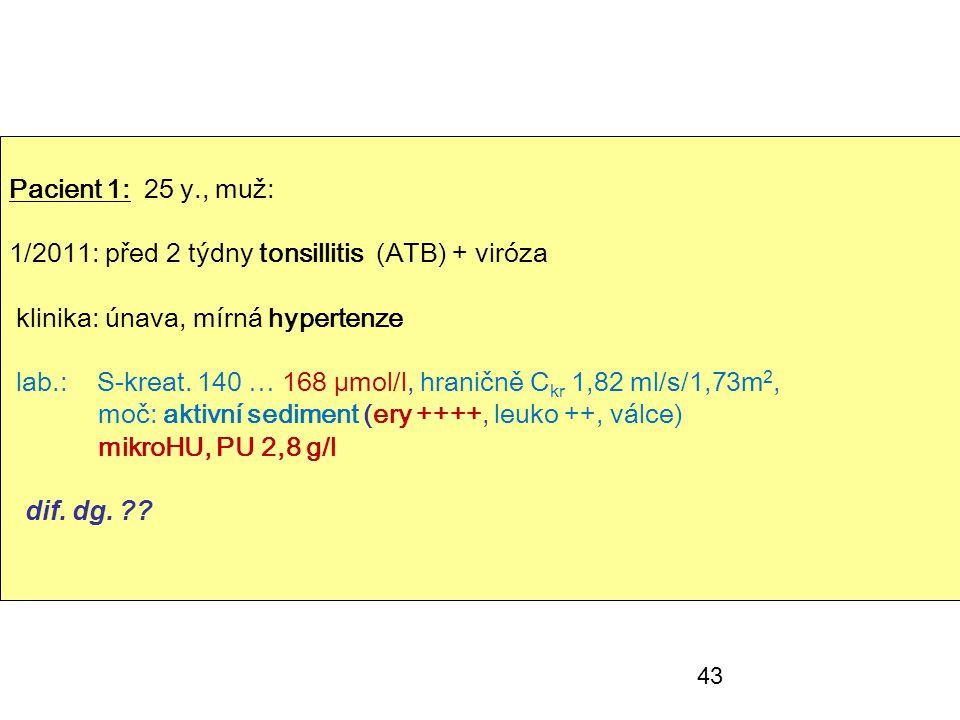 1/2011: před 2 týdny tonsillitis (ATB) + viróza