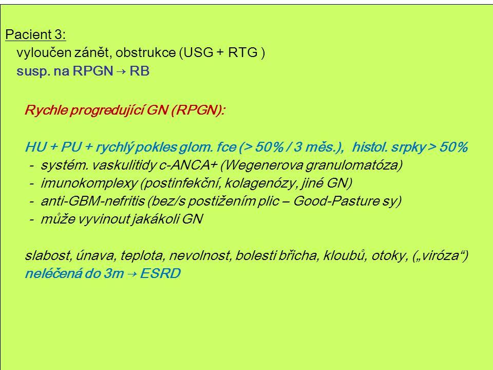 Rychle progredující GN (RPGN):