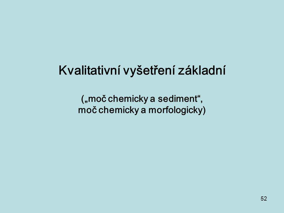 """Kvalitativní vyšetření základní (""""moč chemicky a sediment , moč chemicky a morfologicky)"""