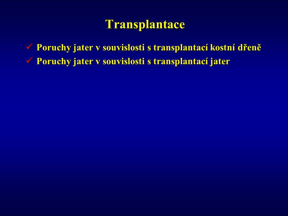 Transplantace Poruchy jater v souvislosti s transplantací kostní dřeně