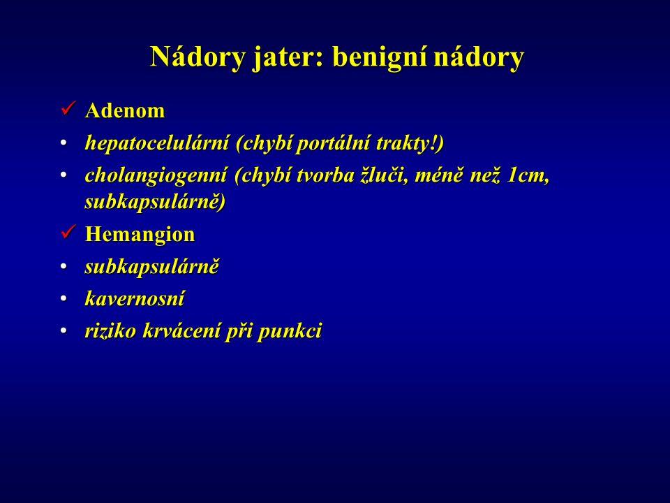 Nádory jater: benigní nádory