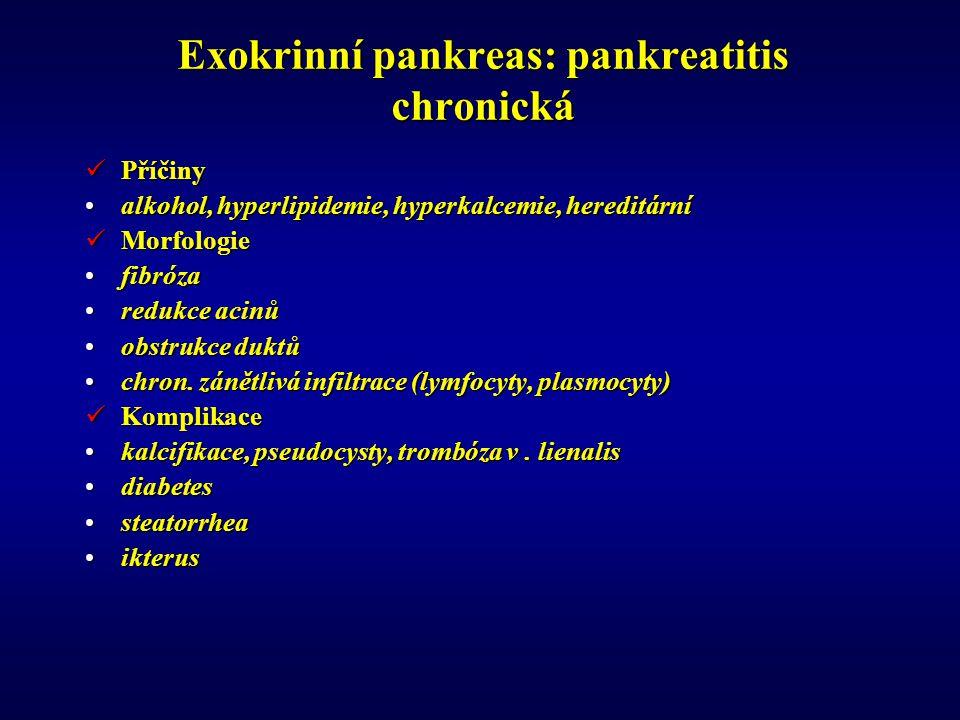 Exokrinní pankreas: pankreatitis chronická