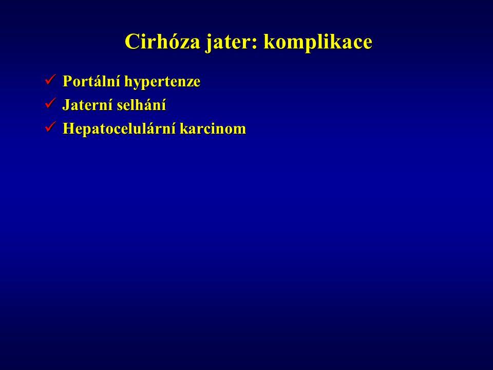 Cirhóza jater: komplikace